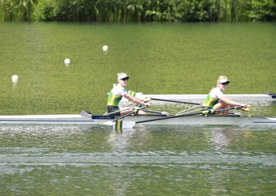 Alice McNamara and Ella Flecker in action - Copyright Rowing Australia