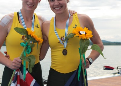 Allen and Horton with medals