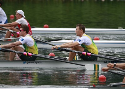Belonogoff and McRae - Heats - Copyright Rowing Australia