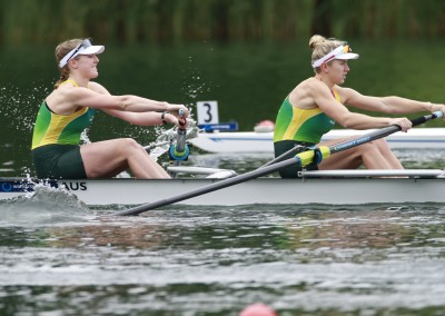 Charlotte Sutherland and Lucy Stephan - Copyright Rowing Australia