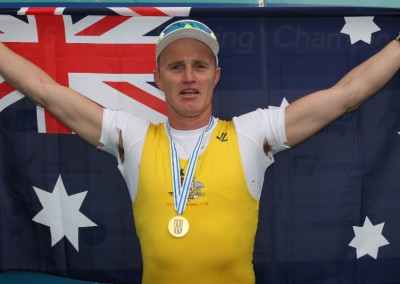 Erik Horrie with his gold medal