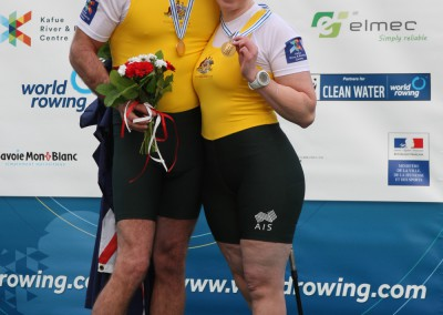 Gavin Bellis and Kathryn Ross with their gold medals
