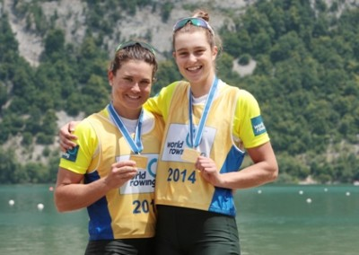 Kehoe and Aldersey with medals - COPYRIGHT ROWING AUSTRALIA SMALL