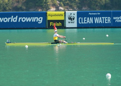 Kim Crow books a place in the A-Final