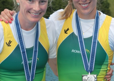 McNamara and Flecker with silver medals 2 - Copyright Rowing Australia