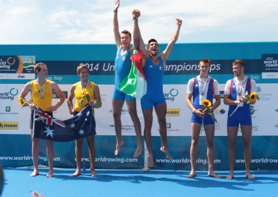 Mens Pair Medallists