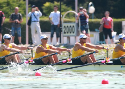 The Men's Quadruple Scull booked a place in the A-Finals