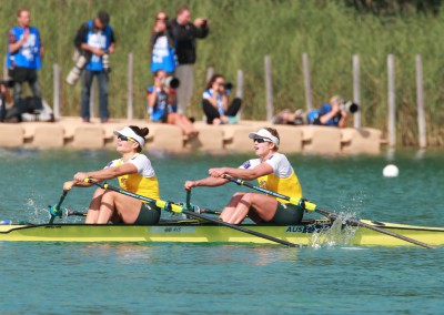 Sally Kehoe and Olympia Aldersey in the B-Final of the W2x