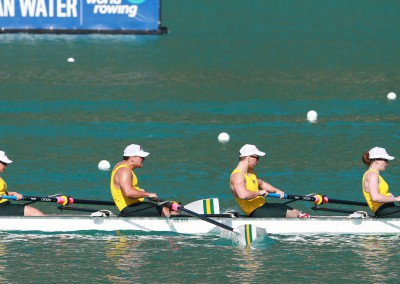 The LTA Mixed Coxed Four in action