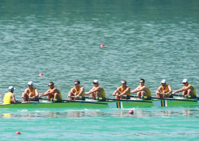 Australia's Men's Eight competing in their heat