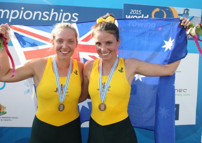 Katrina Werry and Addy Dunkley-Smith won bronze in the U23 Women's Pair