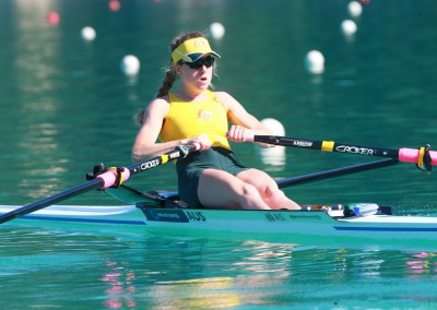 Georgia Nesbitt in the Lightweight Womne's Single Scull