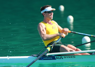 Tim McDonnell in the Lightweight Men's Single Scull